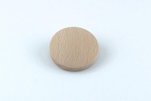 Abdeck-Kappe mit Innenzapfen in Buche gedämpft Ø 35 mm
