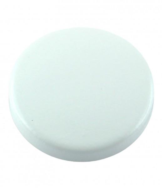 Abdeck-Kappe mit Innenzapfen in Weiss gedämpft Ø 35 mm