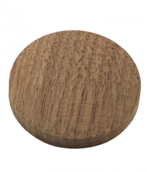 Abdeck-Kappe mit Innenzapfen in Nussbaum gedämpft Ø 35 mm